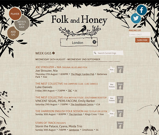 Folk and Honey